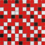 NORDIC MIX RED MOSAICO 2,5X2,5